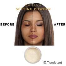 PHOERAFace Powder, Firstfly Loose FacePowder Translucent Smooth Setting Foundation Makeup, 1.02 Oz (#01 Translucent)