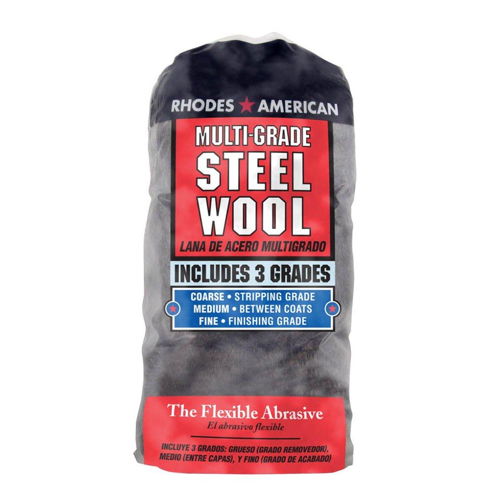 Homax 33873211143 Steel Wool, 12 pad, Assorted Grades, Rhodes American