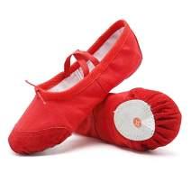 DoGeekBallet Shoes Girls Canvas Ballet Slipper/Ballet Shoe/Yoga Dance Shoe for Toddler/Little Kid/Big Kid/Women(Pink, Red, White, Black, Apricot Pink)