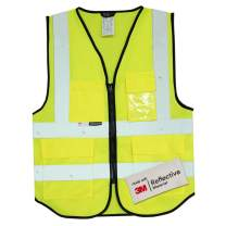 Salzmann 3M Multi-Pocket Safety Vest | Made with 3M Reflective Material | High Visibility Reflective Vest | Meets ANSI/ISEA107