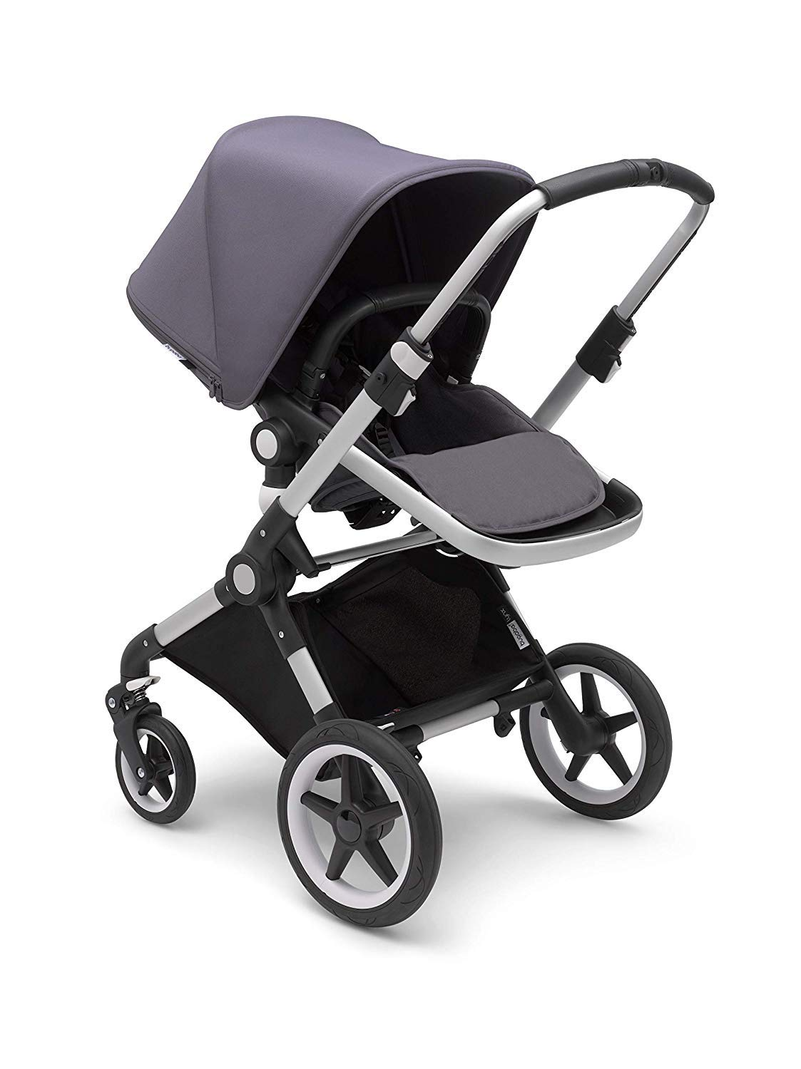 Bugaboo Lynx - The Lightest Full-Size Baby Stroller - All-Terrain Stroller with an Effortless Push and One-Handed Steering - Compatible with Bugaboo Turtle by Nuna Car Seat – Alu/Steel Blue