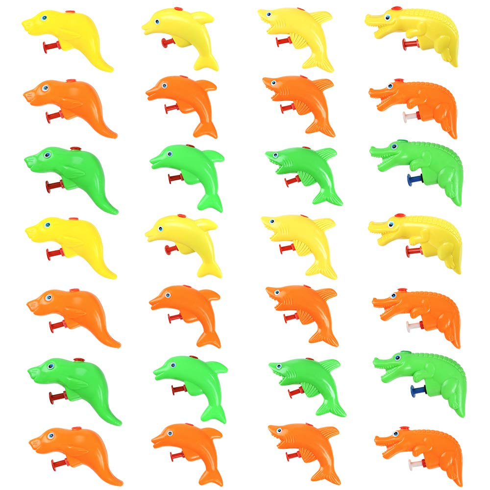 Pllieay 36 Pieces 4 Animal Styles Colorful Water Squirt Guns, Popular Water Squirting Guns for Summer Party Swimming Pool Beach Toys