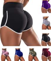 CT-Tebrun Women's Workout Shorts Scrunch Booty Gym Yoga Pants Middle/High Waist Ruched Butt Lifting Sports Leggings