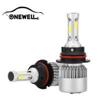 9004/HB1 LED Headlight Bulbs Conversion Kit,Onewell 2PCS Advanced COB Chips IP68 Waterproof 60W 6000LM 6000K Super Bright Cool White