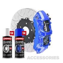 Superwrap Sprayable Vinyl Wrap - Accessories Kit - Calipers, Grills, Trims, Mirrors or Emblems - High Gloss - Lemans Blue