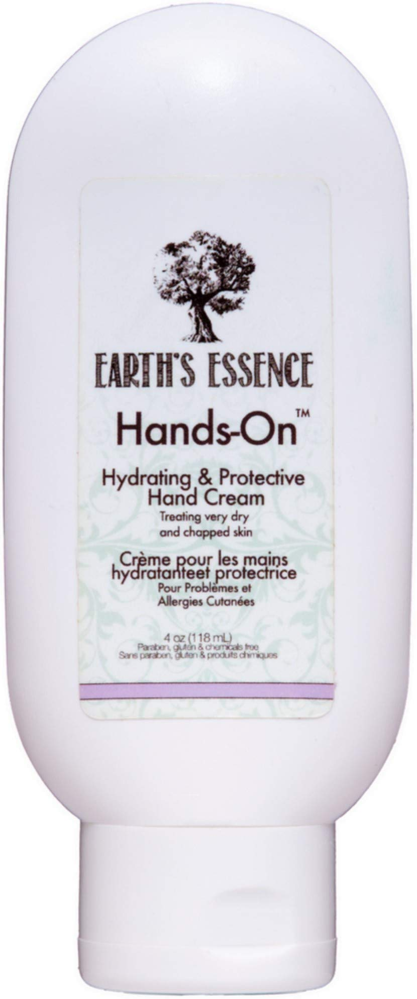 Earth's Essence Organic Skin Care Hands-On Hand Cream, Quick-Absorbing, Designed to Hydrate, Treat, and Protect Dry Skin, 3.9 oz