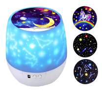 Kids Night Light Star Projector with 360 Degree Rotation Night Lighting lamp for Baby's Bedroom Best Gifts Slippers for Baby Girls Boys (Children-Film 3 Set)