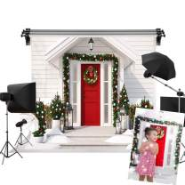Kate 7x5ft/2.2m(W) x1.5m(H) Christmas Photography Background Xmas Tree Red Door Video Studio Backdrop Props