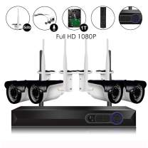 CAMVIEW Wireless Security Home Surveillance System 8CH/4CH 1080P WiFi NVR Kits + 4Pcs/2Pcs 2.0MP Wireless IP CCTV Cameras (4CH 2.0MP System with 1TB)