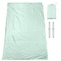 Senmiya Modal Hostel Sheets Cool Travel Bed Sheet Compact & Portable Summer Sleeping Bag Liner with Zipper - Silk Like - Adult Camping Bug Proof Sleep Sack for Backpacking Girls Women