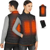 Heated Vest for Men & Women, iHEAT 2020 Upgraded Lightweight Heated Vest with Battery Pack 14400mah, Machine Washable