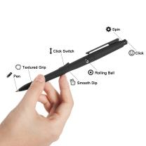 YYGIFT Fidget Ballpoint Pen 2 in 1 Stress Relieve Business Office Toy Ballpoint Pens Hand Stress Reliever Fidget ADHD Autisum Focus Anxiety Relief Black Color