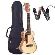 ADM 23 Inch Concert Ukulele Stain Finish Muti-pole Aqulia String with Quality Bag