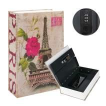 "KYODOLED Diversion Book Safe with Combination Lock, Safe Secret Hidden Metal Lock Box,Money Hiding Box,Collection Box,9.5"" x 6.2"" x 2 .2"",France"