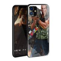 VANGOAL Creative Case for iPhone 11 Pro/Pro Max, Unique Designed Soldier with Rocket Launcher 9H Tempered Glass Back Cover with TPU Frame Protective Case for iPhone 11 (iPhone 11(6.1''),2#)
