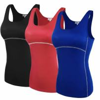 Hotouch Women's 3 Pack Stretch Ribbed Tank Tops Sleeveless Vest 4 Color S-XL