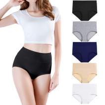 wirarpa Women's Cotton Underwear Briefs High Waist Full Coverage Soft Breathable Ladies Panties Multipack