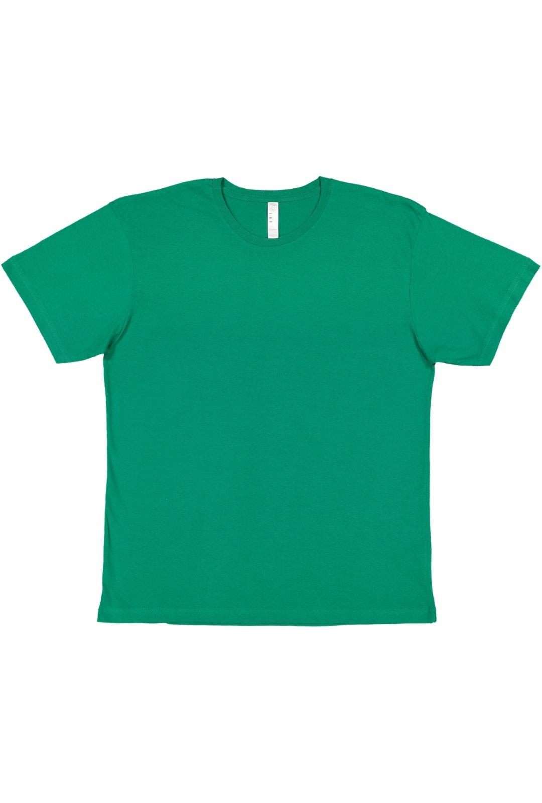 LAT Men's 60/40 Cotton/Polyester Vintage Heathered Jersey Crew Neck Short Sleeve Tee
