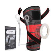 Fyore Knee Brace Compression Sleeve,Knee Braces for Men & Women with Side Stabilizers & Patella Gel Pads & Straps for Knee Support,Knee Sleeves for Meniscus Tear,Arthritis,Pain Relief,More Sports