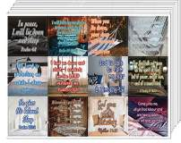 NewEights Bible Verses to Help You Sleep Stickers (10 Sheet) - Total 120 pcs (10 x 12pcs) Individual Small Size 2.1 x 2 Inches, Waterproof, Unique Designs, Great Variety Encouraging Colorful Stickers