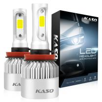 H11 LED Headlight Bulbs, 3 Years Warranty, KASO RX2 All in One Conversion Kit Fog Lights H8 H9 8000Lm 72W/Set 6500K Cool White Highly Waterproof (H11 H8 H9)