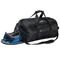 Gym Sports Duffel Bag with Shoes Compartment and Waterproof Pouch Travel Duffel Bag Weekend Bag for Men and Women