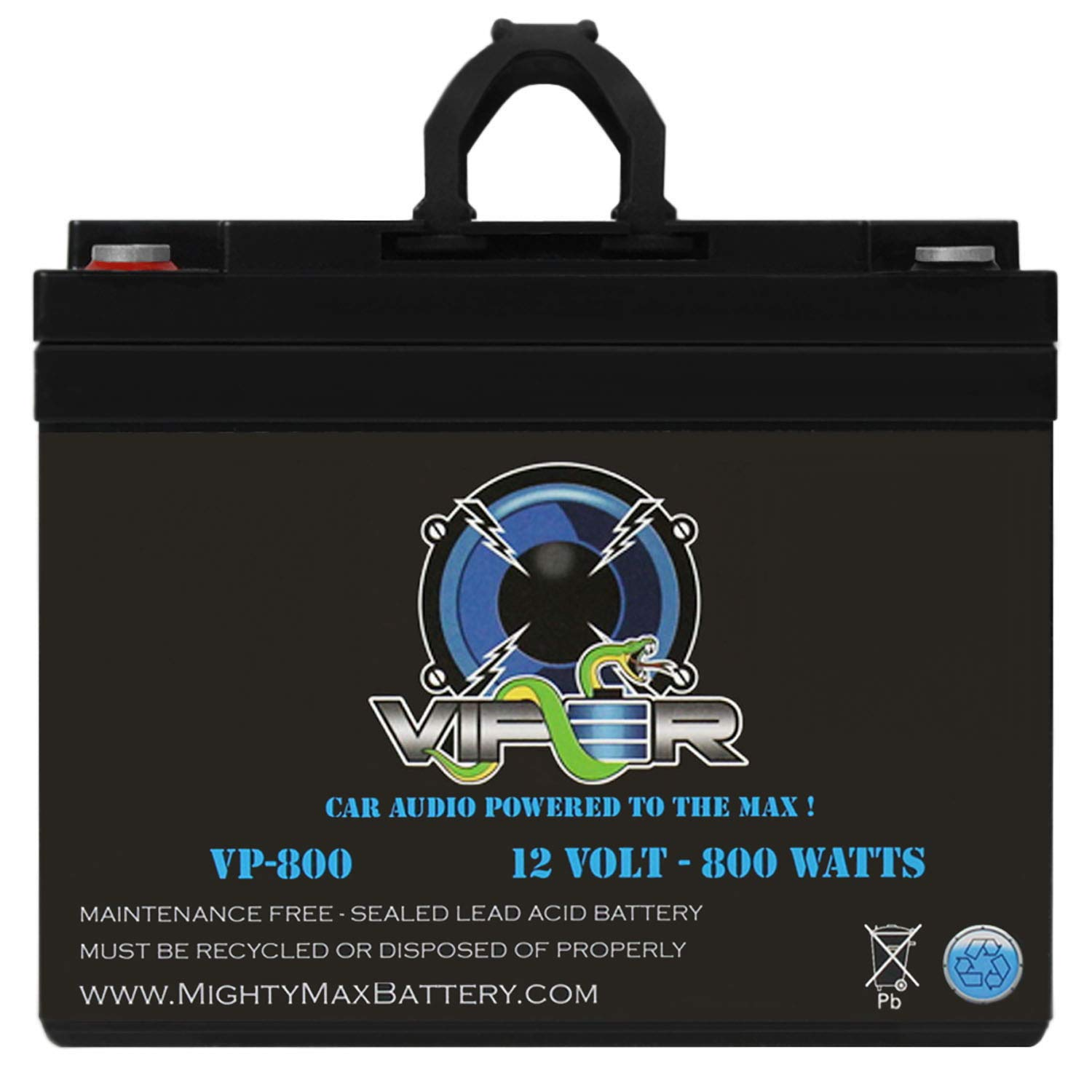 Mighty Max Battery Viper VP-800 800 Watt Car Audio Battery/Power Cell System AGM Brand Product
