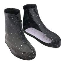 VXAR Rain Shoe Cover Waterproof Overshoe Black1 XL
