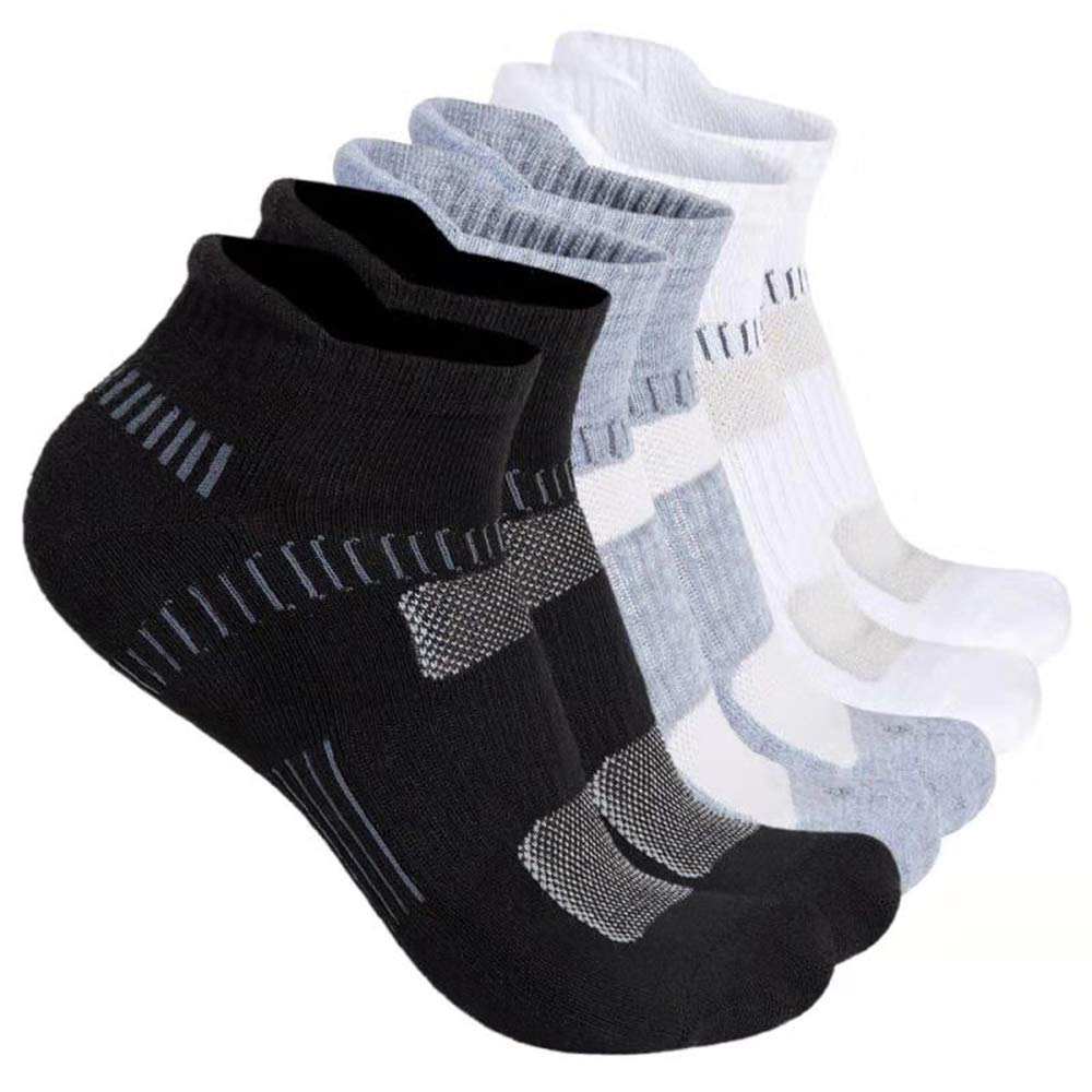 HETH Low Cut Running Athletic Socks, 6 Pairs No Show Sports Cushion Socks for Men and Women