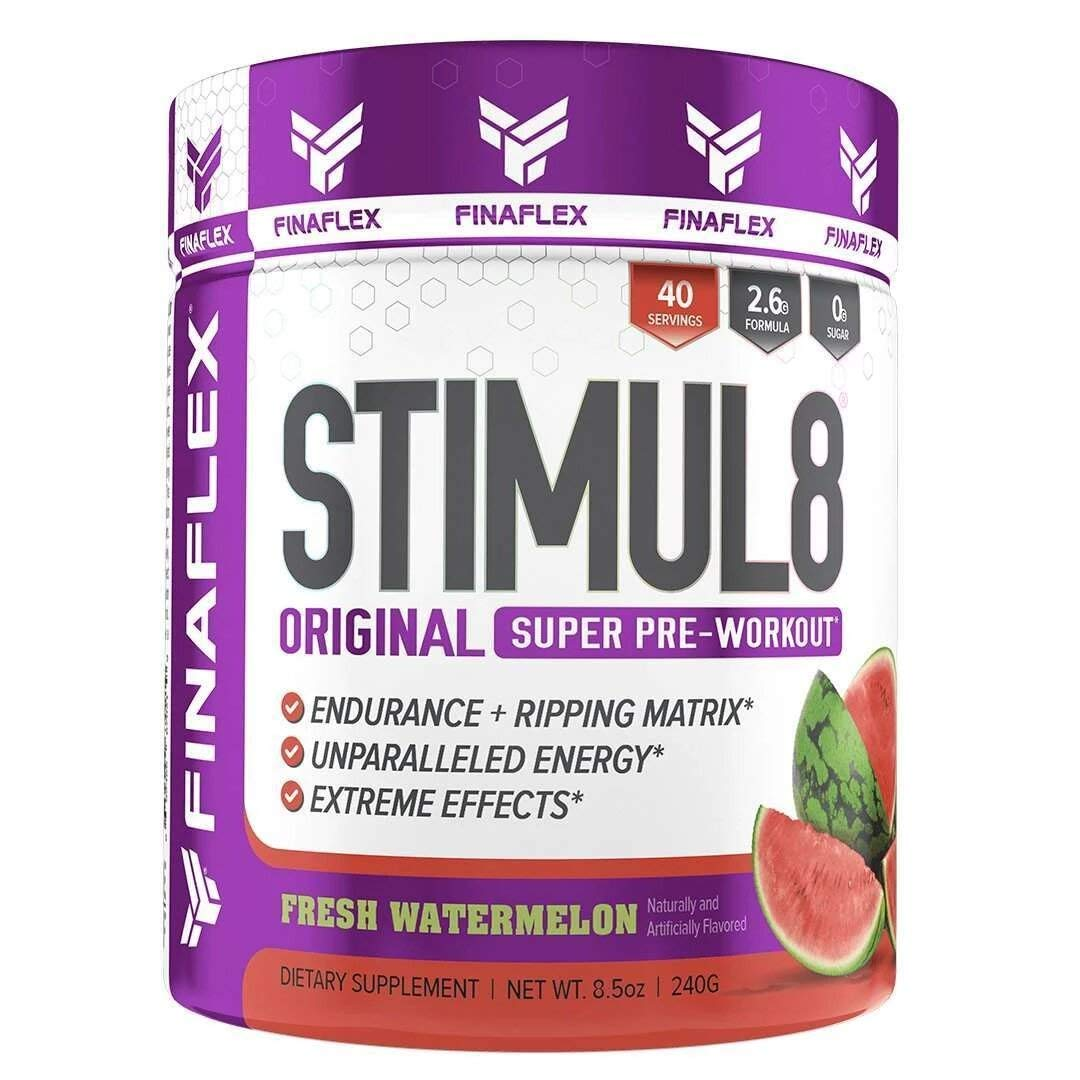 Finaflex Stimul8 Pre-Workout Powder, Watermelon, 8.5 Ounce