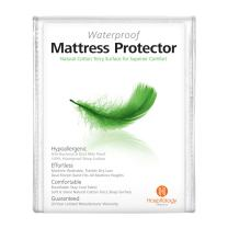 """HOSPITOLOGY PRODUCTS Mattress Protector Natural Cotton Terry Sleep Surface - Full/Double - Waterproof - Hypoallergenic - 20-Year Warranty - Fitted Mattress Cover - Machine Washable - 54"""" W x 75"""" L"""