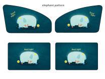 Kwak's Sunshade Side Window Magnet Automatic Scaling Cartoon Shade Cloth Car Curtain Summer Sun Protection Windscreen Anti-UV Block UV Rays 4 PCS Sunshade For Kid and Pets (Elephant pattern)