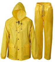 SaphiRose Hood Waterproof Rain Suits for Men Women Fishing Hunting Jackets & Trousers