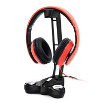 Sinstar Gaming Headset Stand Headphone Holder with Full-Range Stereo or EQ7.1 Surround Sound Universal Earphones Hanger with Base 2 USB Charging Ports, 3.5mm Audio Jacks and Microphone Jack