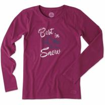 Life is good Crusher longsleeve Best in Snow Womens T-Shirt