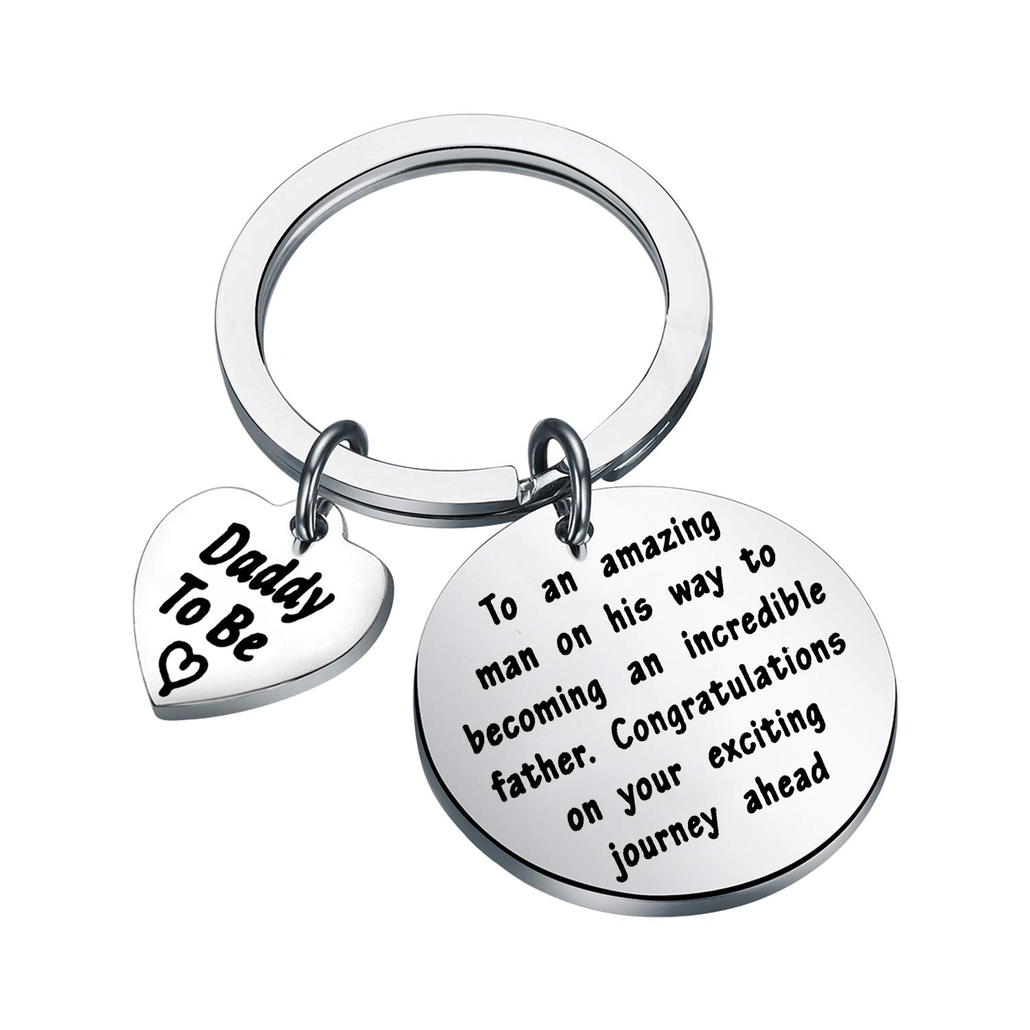 BEKECH Mommy to Be Gift Pregnancy Announcement Baby Announcement Gifts Key Chain to an Amazing Woman On Her Way to Becoming an Incredible Mother Keychain Gift for New Mom