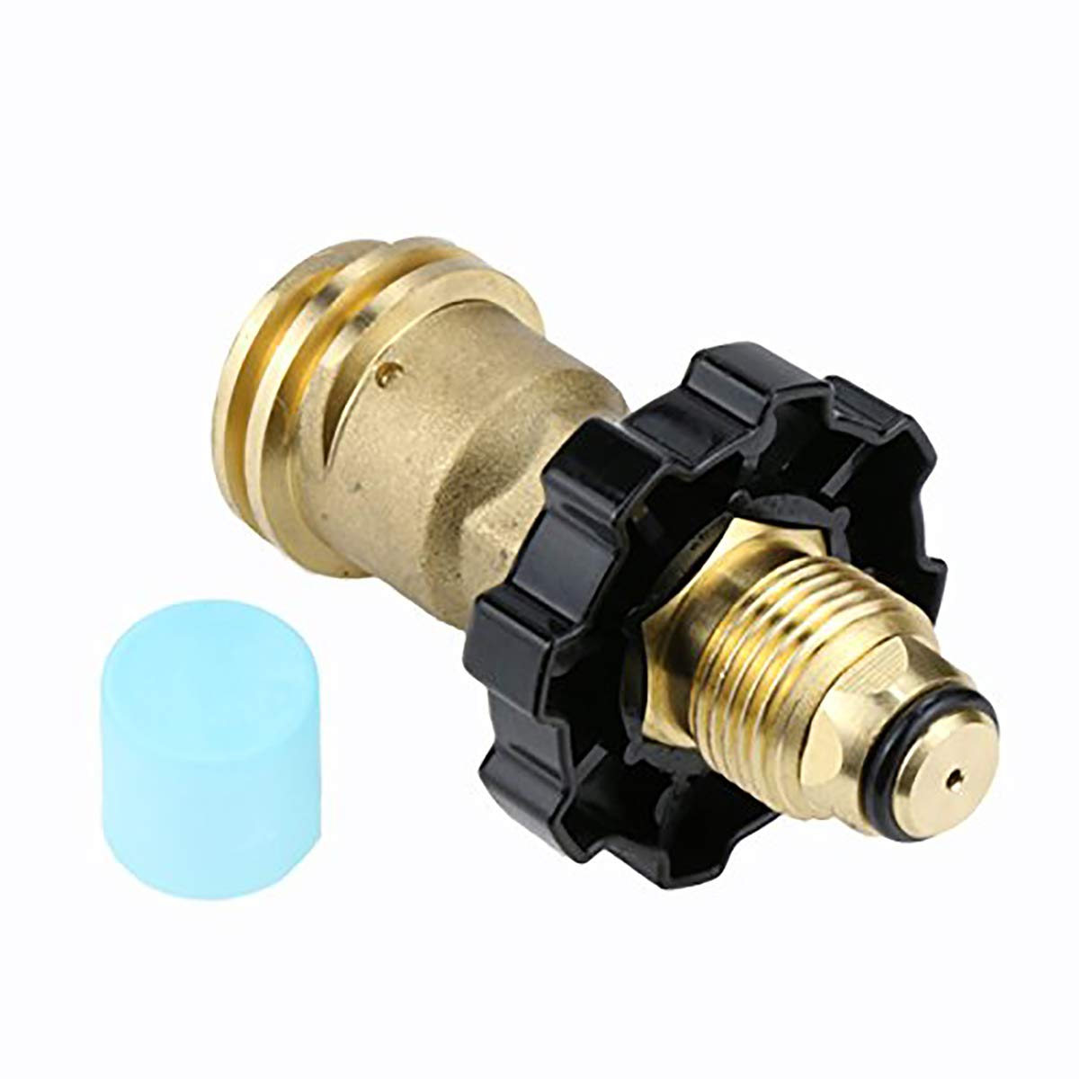 GASLAND Propane Adapter, POL to QCC1 Type1 Propane Tank Adapter with Wrench, LP Gas Valves Grill Connector for Propane Cylinder, Suitable for RV Camper, Cylinder, BBQ Gas Grill, Heater