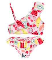kavkas Baby Girl Swimsuit Cute One Piece Bathing Suit with Sun Protection Ruffles Swimwear (9M-6T)