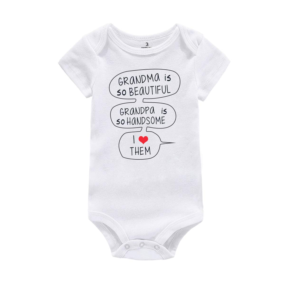 WINZIK Baby Boy Girl One-Piece Romper Bodysuit Outfit Funny Grandpa Grandma Infant Creeper Jumpsuit Shirt Clothing Gift