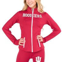 Twin Vision Activewear Indiana Hoosiers NCAA Women's Yoga Track Jacket Warmup