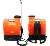 Flesser Battery Powered Backpack Sprayer Battery Operated Sprayer 4 Gallon with 4 Patterns Nozzles,for Agricultural Use and Garden Care (4.8 Gallon - Orange)
