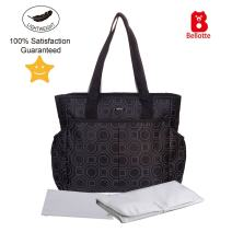 Bellotte Diaper Tote Bags, Large Capacity, Stylish and Durable (Black)