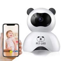 Pet Camera Dog Camera PETGOD 1080P HD Wireless Home Security Camera with 2 Way Audio Night Vision Motion Detection Remote Monitor Baby Monitor IP Camera Support iOS/Android