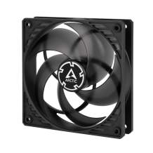 ARCTIC P12 PWM PST - 120 mm Case Fan with PWM Sharing Technology (PST), Pressure-optimised, Quiet Motor, Computer, Fan Speed: 200-1800 RPM - Black/Transparent