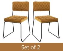 Guyou Office Guest Chair Set of 2, Yellow Retro Side Chairs for Reception Room/Waiting Room/Conference Room/Club