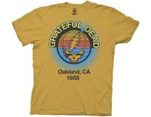 Ripple Junction Grateful Dead Adult Unisex Oakland 88 Light Weight 100% Cotton Crew T-Shirt