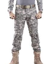 AUSZOSLT Men's Multicam Combat Pants Airsoft Hunting Military Paintball Tactical Camo Pants