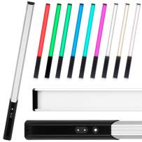 amzdeal Light Wand RGB LED Video Light Ice Light Photography, 9 Colors Temperature, 30 Brightness Levels, 1000 Lumen, Rechargeable Battery
