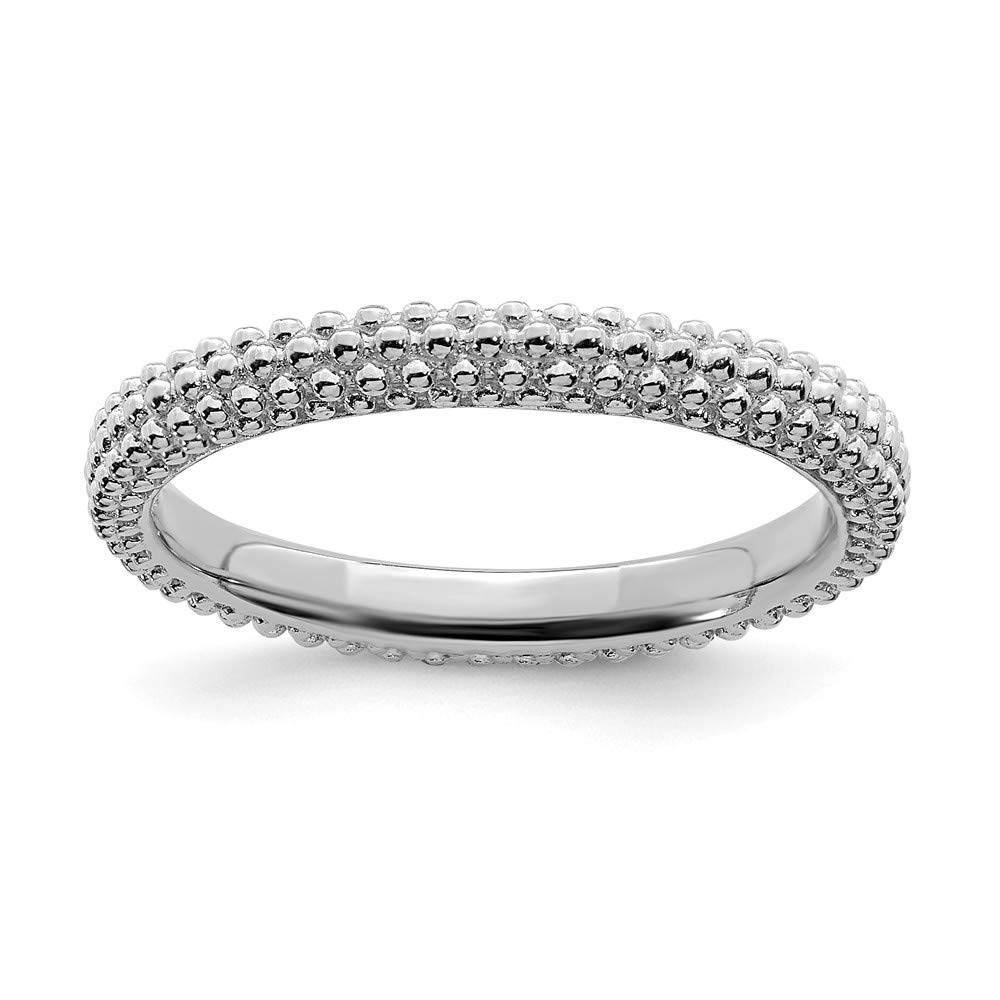 925 Sterling Silver Domed Band Ring Stackable Fine Jewelry For Women Gift Set