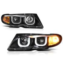 VIPMOTOZ For 2002-2005 BMW E46 Sedan 325i 330i OLED DRL Headlights Headlamps, Driver and Passenger Side